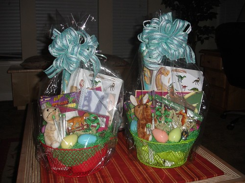 the Boys Easter Baskets