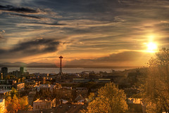 Space Needle Sunset HDR