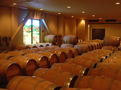 Robert Mondavi Winery - White Wine Barrels