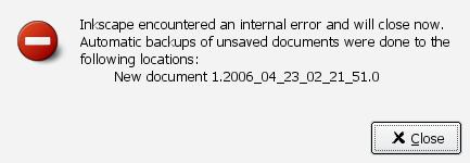 Inkscape error