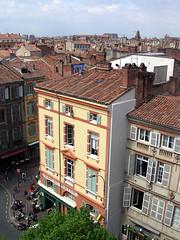Utsikt över en gata i Toulouse