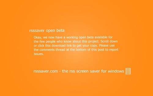 rss screen saver for windows