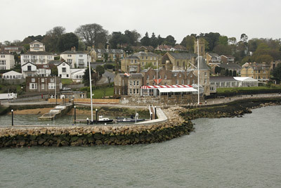 West Cowes at the harbour entrance