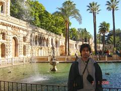 Garden Dalam Real Alcázar, Seville, Spain
