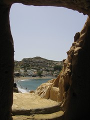 Matala from a cave