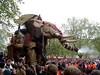The Elephant sprays the crowd - 1