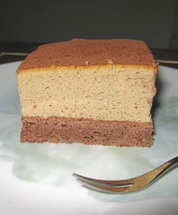 Coffee cheesecake on choco sponge