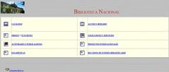 Web de la Biblioteca Nacional en 1996