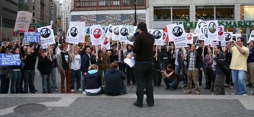 Eugene Mirman Protests Himself