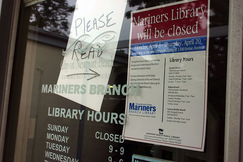 Mariners Library Closed