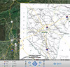 Google Earth image with Spartanburg Map Overlay