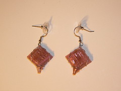 Pink glass earrings