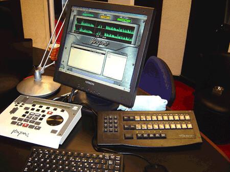 Radioactive.blog.nl   Foto van de studio van Kink FM in het voormalige Audiocentrum op het Mediapark in Hilversum [ Thomas Giger ]