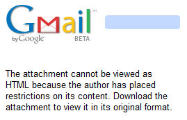 Attachment cannot be viewed