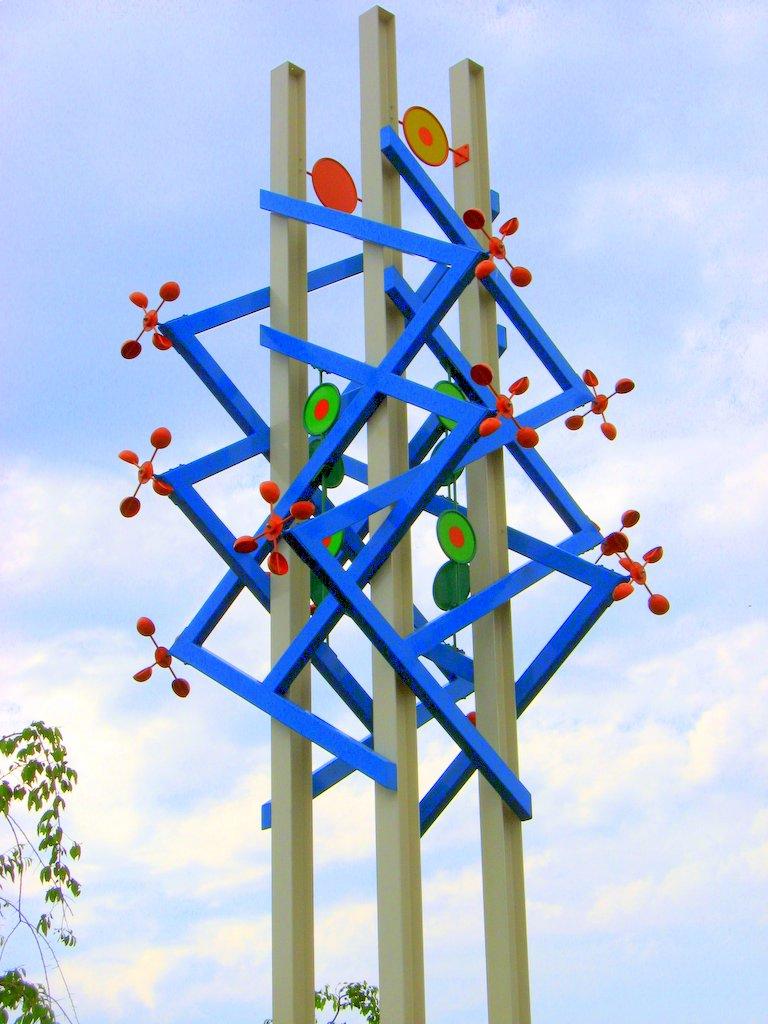 A sculpture in a park in Mitsukaido