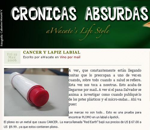 Cancer y Lapiz Labial
