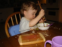 Using alternative eating utensils