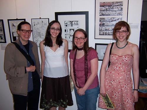 Katherine Arnoldi, Tania del Reo, Raina Telgemeier, and me