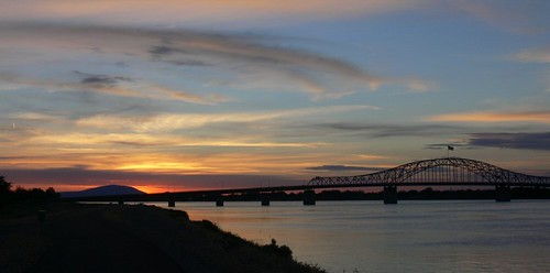 --Photo: Blue Bridge Sunset--