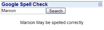 *May* be spelled correctly?