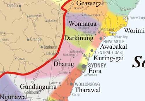 map showing aboriginal language groups