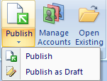 Publishing tool bar