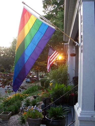 rainbow flag sunset.0