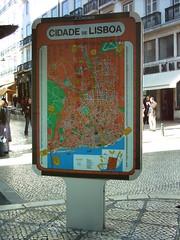 Mapa de 1991, no Chiado.