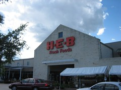 HEB, that's where we buy groceries now