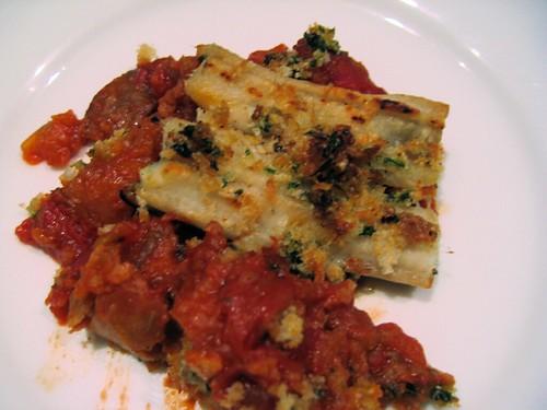 eel and tomato bake