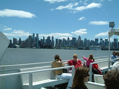 View of Manhattan from a ferry