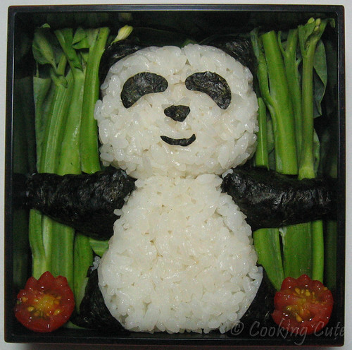 [panda onigiri bento]