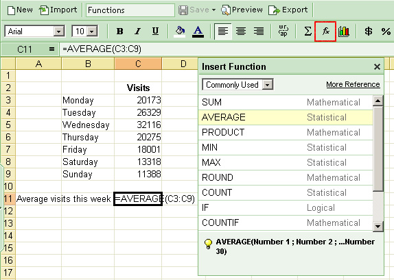 spreadsheet and function Spreadsheet notes : spreadsheet - primary function to perform calculations that may involve mathematical, financial, or scientific data.