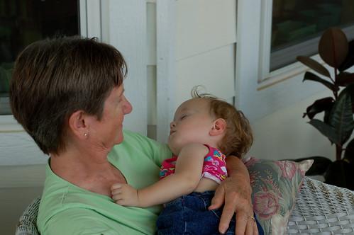 Great-Grandma Lucy and Elaina