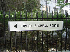 London Business School direction sign