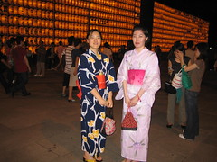 Traditional Yukata dress (yes, I asked their permission to take a picture)