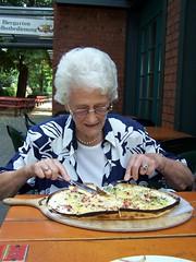 Aunt Margot at the Wuppertaler Brauhaus