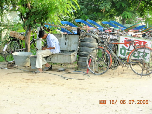 Roadside repair shop