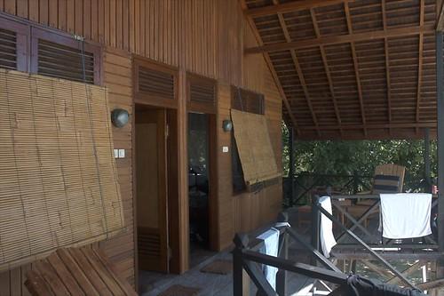 減重小木屋的陽台