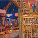 Govan by night, pastel on paper, 150x100cm