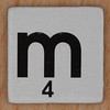 Word Game letter m