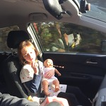 Amy playing babies in the car<br/>19 Nov 2017