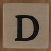 Stamp letter D