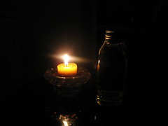 Oil and candle