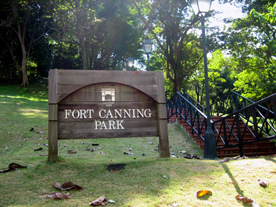 An entrance to Fort Canning Park