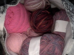 Pink and Red Yarn
