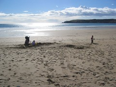 Kids Digging on Red Strand