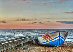 Whitstable Oyster Co. Boat at Sunset HDR 3596 photo by Keith Marshall
