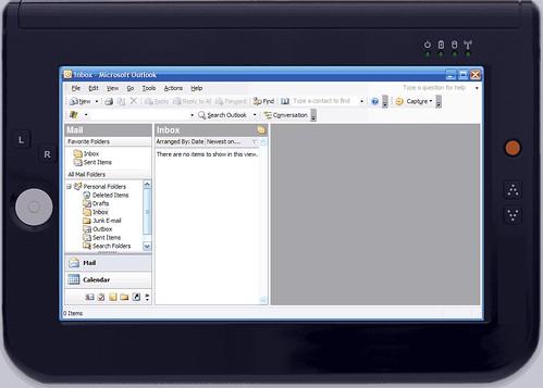 UMPC - Outlook inbox