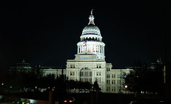 Texas State Captiol at night